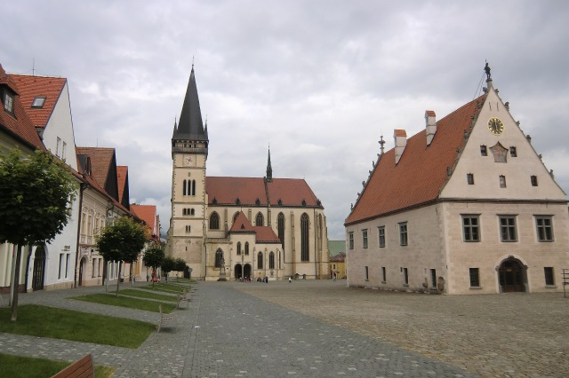 Ancient Central Square in Bardejov