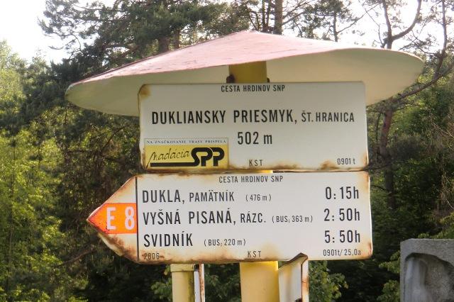 last E8-sign in Slovakia