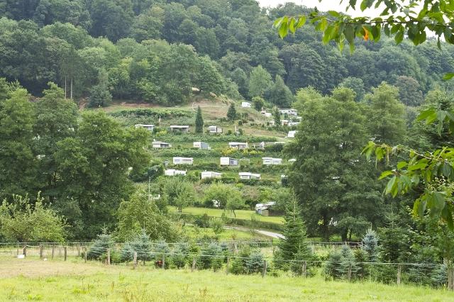 terrace camping site below Lindenfels